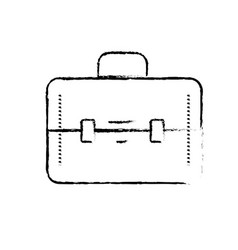 figure elegant briefcase to save business vector image