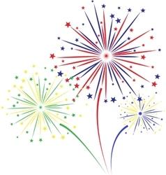 Firework design on white background vector