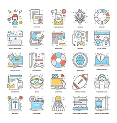 Flat Color Line Icons 14 vector