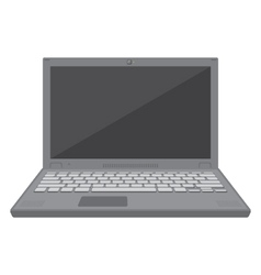 flat design laptop vector image