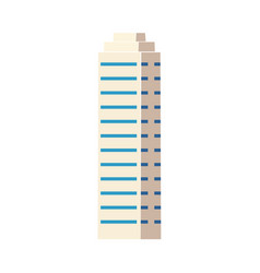 flat isometric skyscraper modern business center vector image