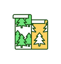 forest wallpaper rgb color icon vector image