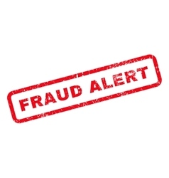 Fraud Alert Text Rubber Stamp vector image
