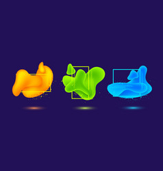 geometric flowing liquid shapes vector image