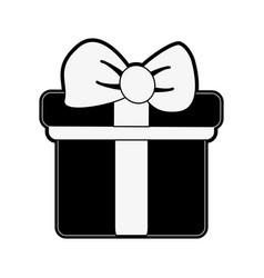 giftbox present symbol vector image