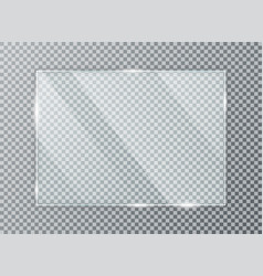 glass plate on transparent background acrylic vector image
