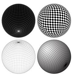 gridded wireframe spheres vector image