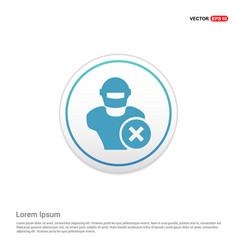 Hacker icon - white circle button vector
