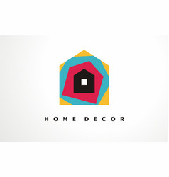home decor logo design icon house decoration vector image