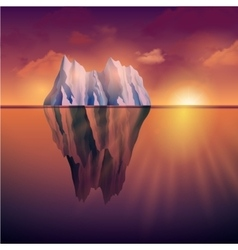 Iceberg On Sunset vector image
