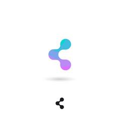 Icon share web social media internet show vector