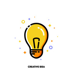 icon with light bulb as creative idea symbol vector image
