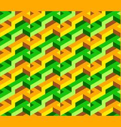 Isometric geometric seamless patern of triangles vector