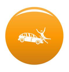 Knock down icon orange vector