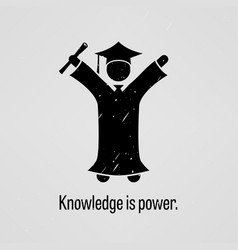knowledge is power a motivational and vector image