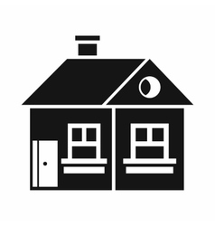 Large single-storey house icon simple style vector
