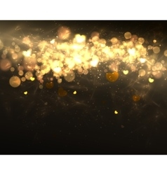 Light and Hearts Style Banner Romantic for your vector