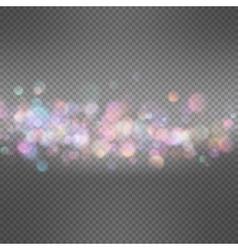Lights on dark transparent background EPS 10 vector