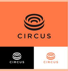Logo circus antique historic travel amphitheater vector