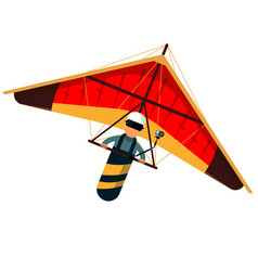Man hang glider icon isolated on white background vector