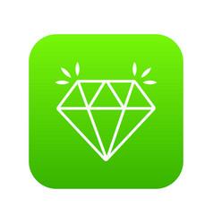 mine diamond icon green vector image