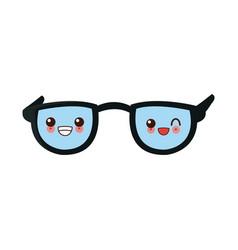 Nerd glasses isolated cute kawaii cartoon vector