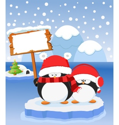 Penguin Message vector image vector image