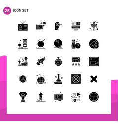 Pictograph set 25 simple solid glyphs room vector