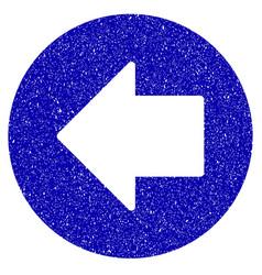 previous arrow icon grunge watermark vector image
