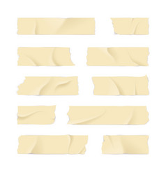 Realistic 3d detailed adhesive or masking tape set vector