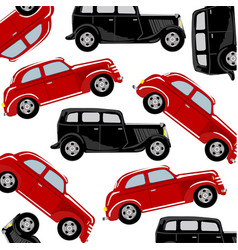 red and black car vector image