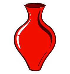 red vase on white background vector image