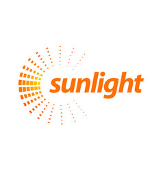 rotate splash orange sunlight logo concept design vector image