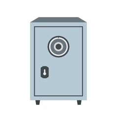 Security safe flat icon vector image