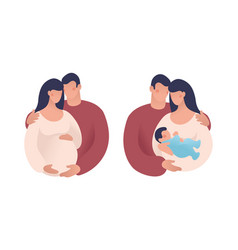 Set about pregnancy and family a vector