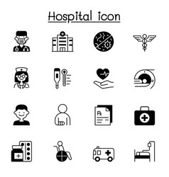 Set hospital related icons contains such icons vector