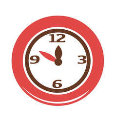 simple red clock vector image