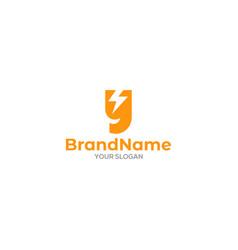 Simple y electric logo design vector