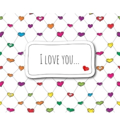 Sketch love card vector image