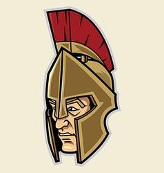 Spartan Head vector image