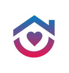 Stay home logo template corona virus prevention vector