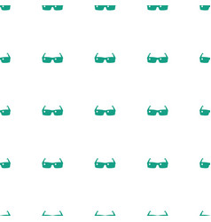 sunglasses icon pattern seamless white background vector image