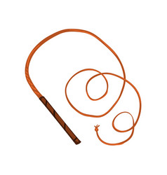 Traditional leather whip on a vector