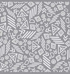 Tribal abstract seamless repeat pattern vector