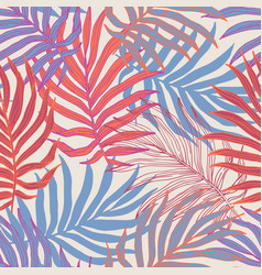 Tropic leaves summer seamless pattern vector