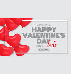 valentines day poster design sale promotion vector image