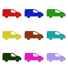 Vans on white background vector