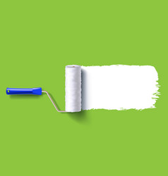 White roller brush vector