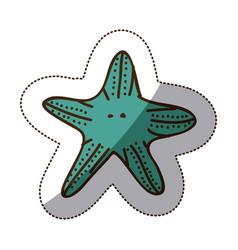 color starfish icon stock vector image vector image
