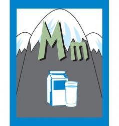 flash card m vector image